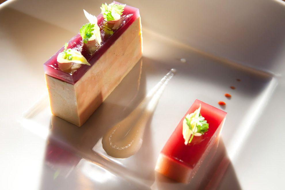 A g gastronomie recettes entr es press de foie for Entree gastronomique