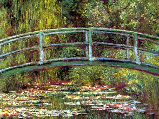 Le pont japonais de Giverny de Claude Monet