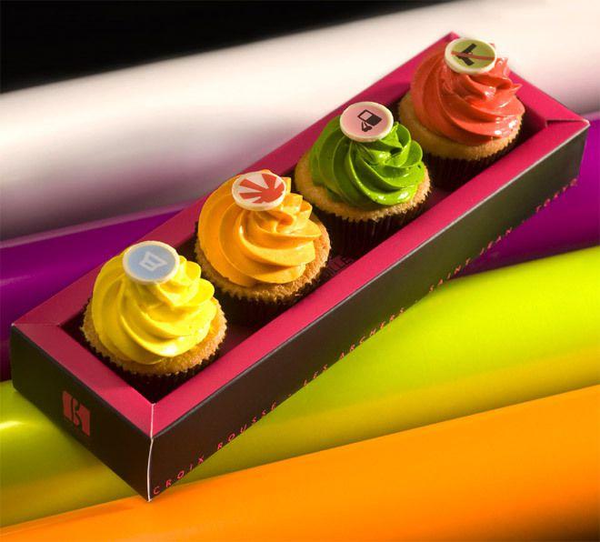 Coffret de 4 Cup Cakes : 12.80 €  A offrir ou à partager