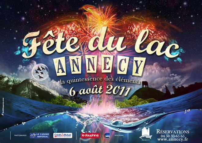Fête du lac d'Annecy le 6 août 2011