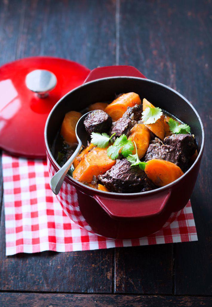 Joue de boeuf carottes au gingembre et la coriandre arts gastronomie - Recette joue de boeuf au four ...