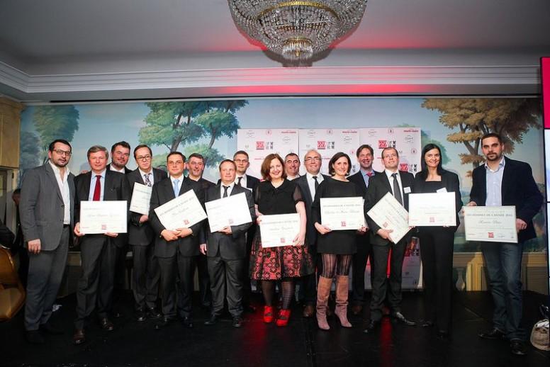 L'ensemble des lauréats lors de la soirée de remise des récompenses - Hommes et Femmes de l'année 2014 - Crédit photo Régis Grman