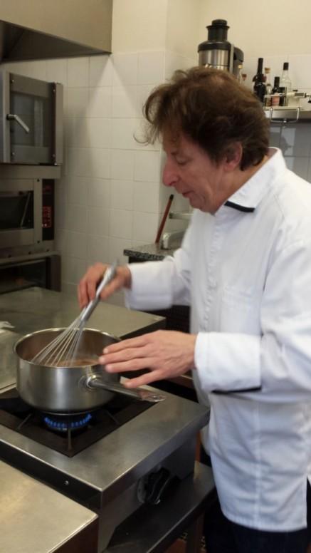 Jacques Genin en cuisine