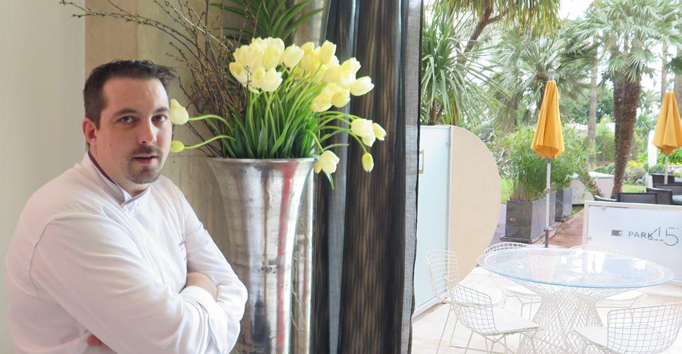 Sébastien Broda, chef étoile du restaurant Park 45 à Cannes.