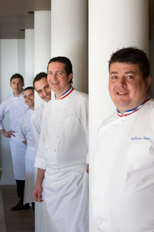 Guillaume Royer (MOF 2015), Christophe Bacquié (MOF 2004), Thomas Vetele, Guillaume Lecomte et Fabien Ferré - Copie