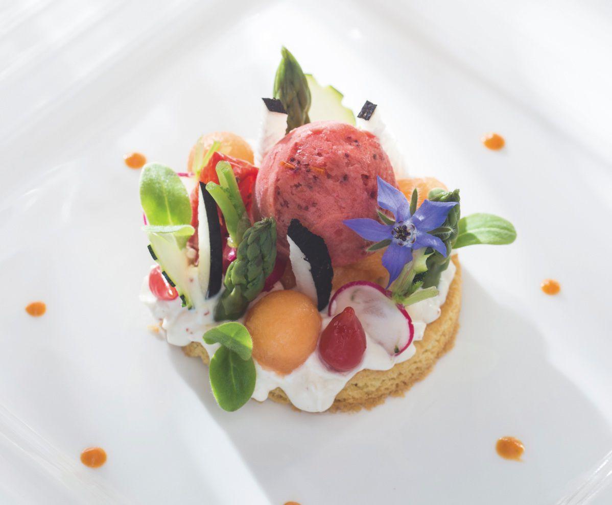 Sabl breton asperges vertes du pays arts gastronomie for Entree gastronomique originale