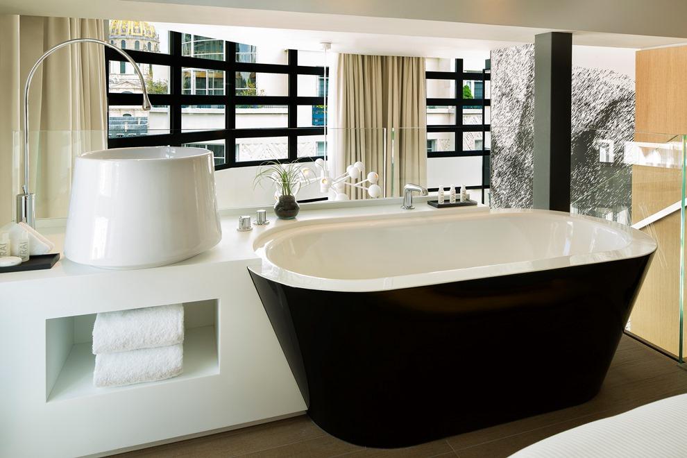 Elégantes et contemporaines, les 68 chambres et suites de l'hôtel ont été réalisée par l'architecte Jean-Philippe Nuel_© Le Cinq Codet