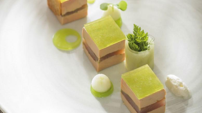 pressé de foie gras de canard et féra fumée