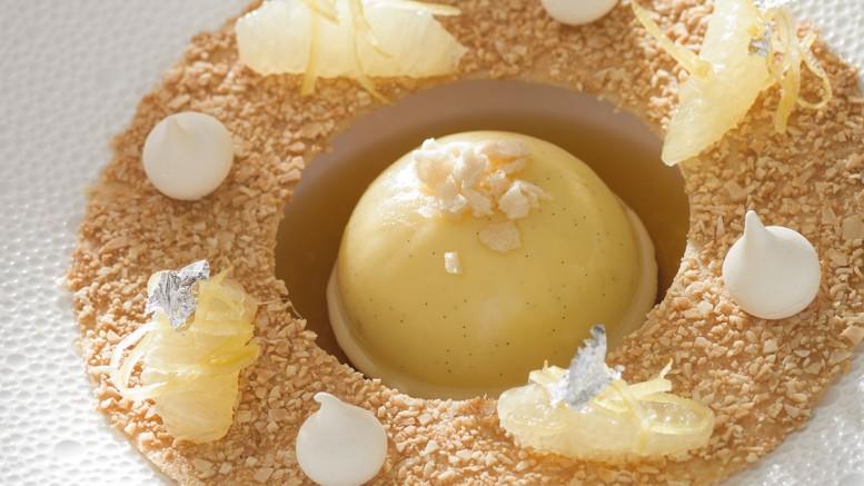 Délice au citron de Menton cœur yuzu & mascarpone