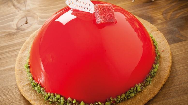 J'ADORE Cake Basilic, compote de fraise basilic, mousse de fraise