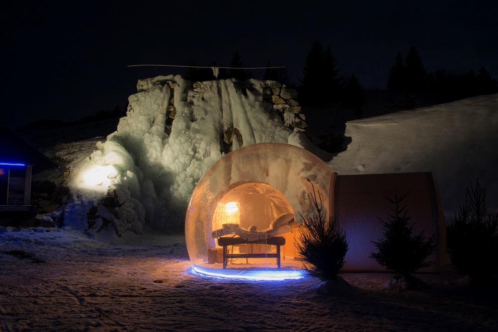 Située au coeur de la montagne, cette bulle de détente propose une nouvelle expérience inédite_© Les Airelles - Exertier