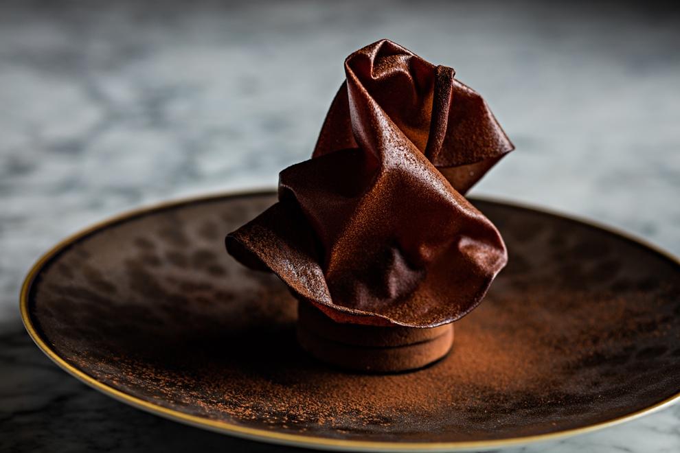 """Dessert chocolat, """"la dentelle croustillante""""_© DR"""
