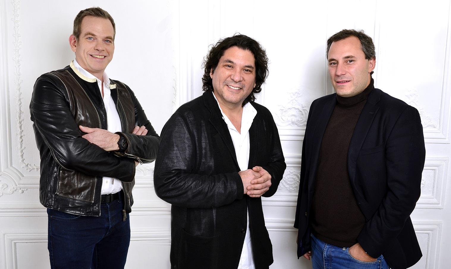 Garou, Gaston Acurio et Benjamin Patou, les trois associés_©Philippe Brazil