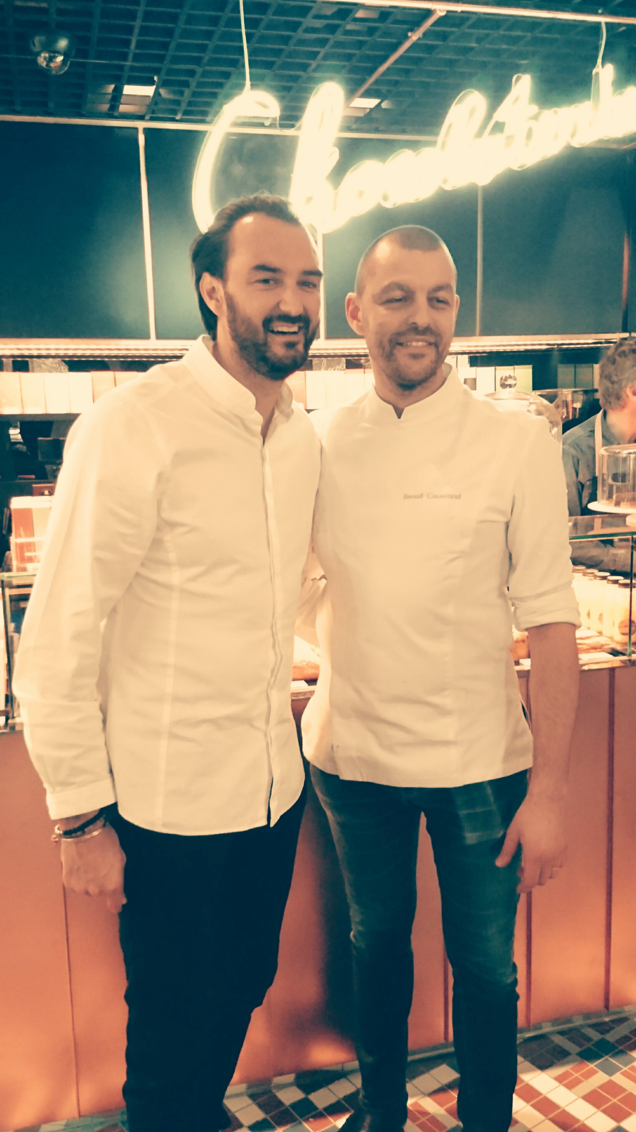 Cyril Lignac et Benoît Couvrand inaugurent la Chocolaterie (Paris 11)_© Clémence Rouyer