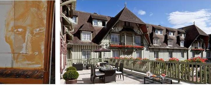 Le portrait d'un homme vient d'être retrouvé lors des travaux de réhabilitation de l'hôtel Le Normandy à Deauville_© Hôtel Le Normandy Barrière
