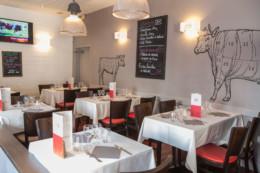 Salle du restaurant Steak&Co designer par Alain Vavro
