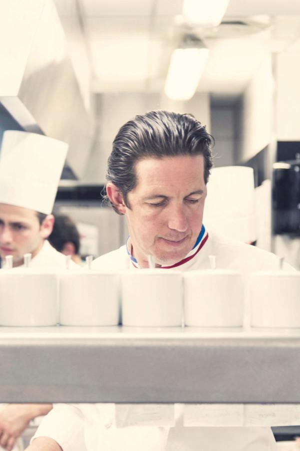 Christophe Bacquié en cuisine