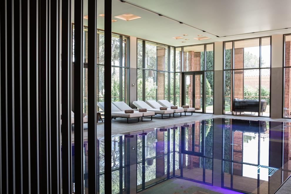 Ouvert cet été, le spa de l'Hôtel du Castellet s'étend sur 700 m2_© Grégoire Gardette