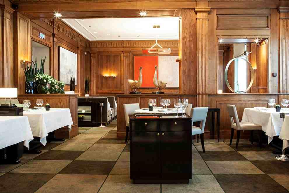 Le restaurant Taillevent ouvre ses portes à l'occasion de la Fête de la Gastronomie, le 24 septembre 2016. Rendez-vous salle Lammenais pour admirer sa table d'exception dressée pour occasion_© Arnaud Meyer