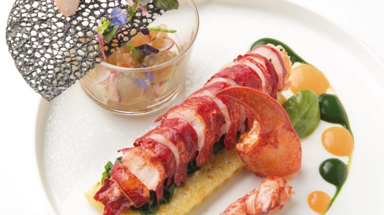 Homard breton gratin de macaronis