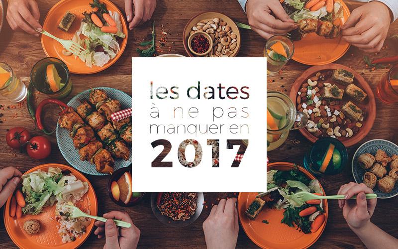 dates gastronomie 2017