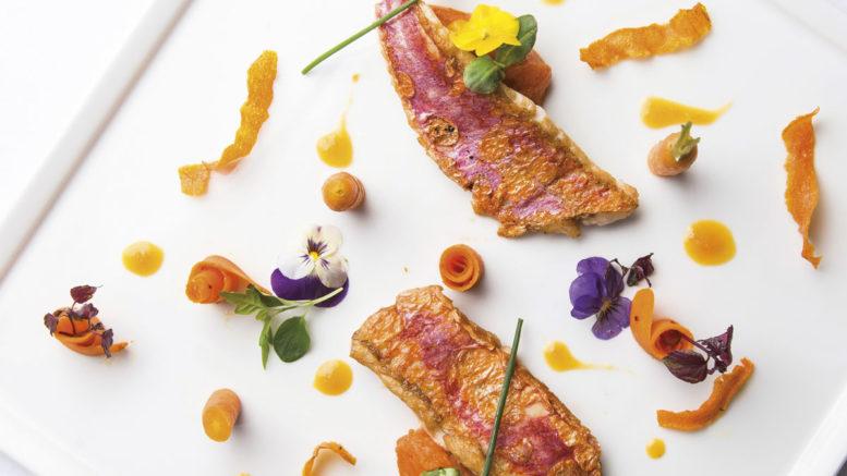 Filet de rouget à l'huile d'olive et carottes gingembre