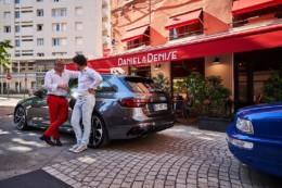 Essai de la nouvelle voiture audi RS4 fournie pa rla concession Central autos à Lyon et essai par le chef Joseph Viola, propriétaire des restaurant Daniel et Denise à Lyon. Voiture sportive