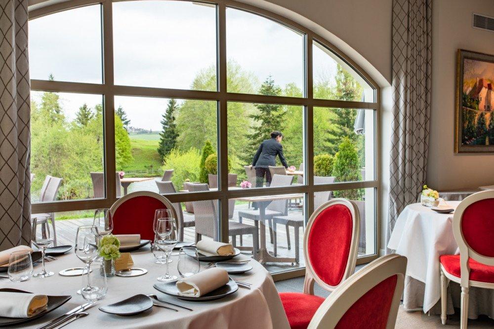 La salle de restaurant du Château de Sainte Sabine