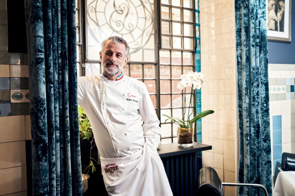 Mathieu Viannay, chef du mythique restaurant La Mère Brazier à Lyon