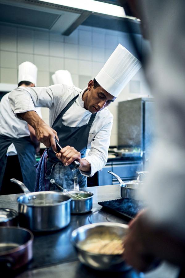 Dans les cuisines du Château du Coufour