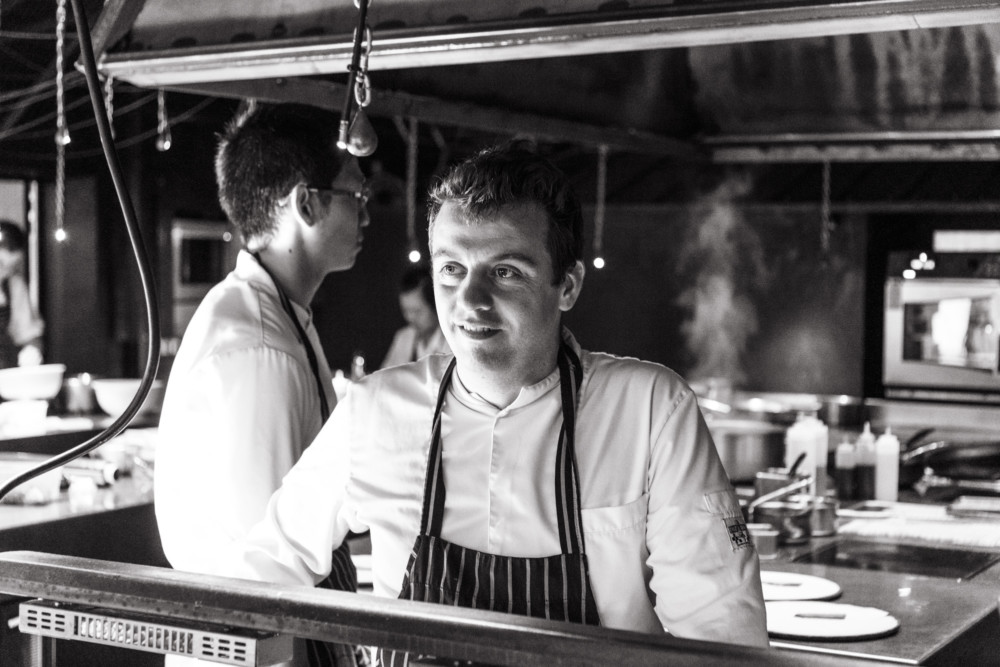 Alexandre Gauthier dans les cuisine de La Grenouillère