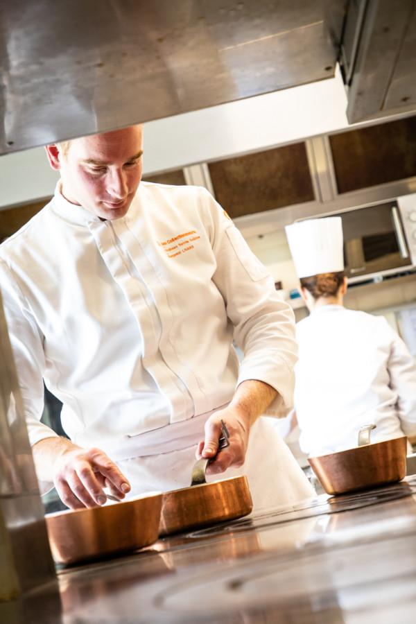 Benjamin Linard en cuisine