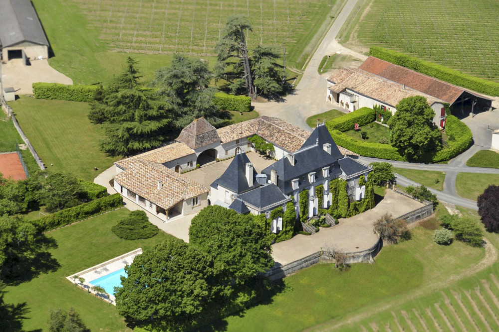 Château de Parenchère vue du ciel