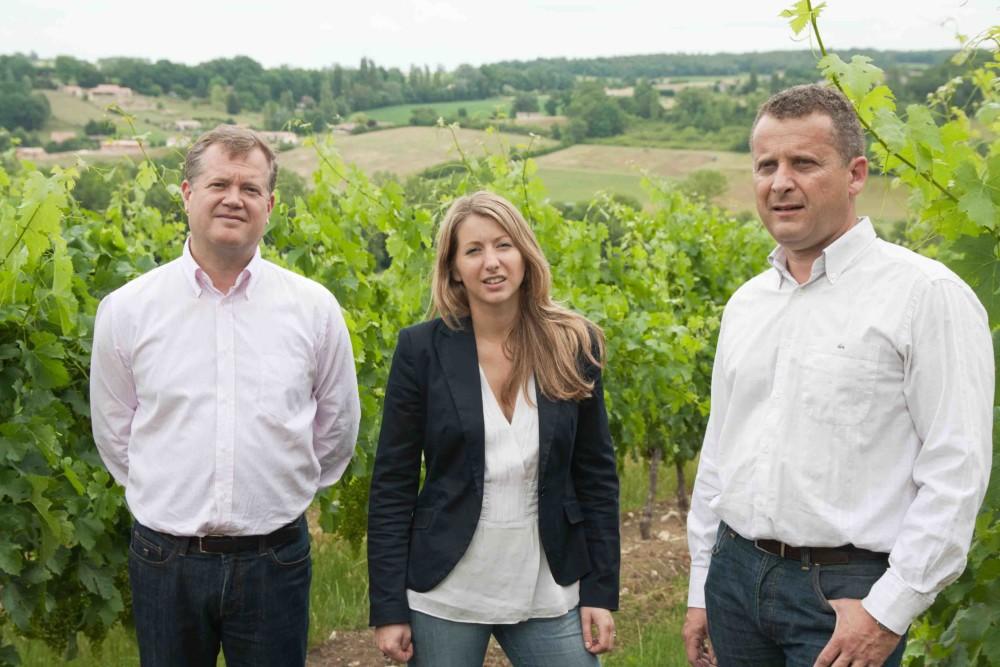 Equipe Château de Parencnère de g à d Per Landin, Julia Gazaniol et Richard Curty