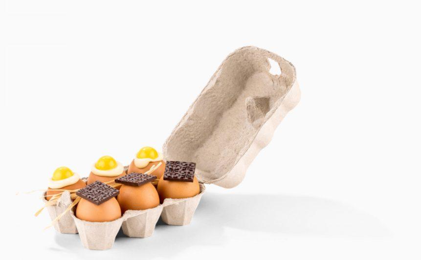 Demi-douzaine d'oeufs au chocolat de Fabrice Gillotte